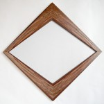 "Ambrosia Maple and Walnut Mirror 24"" x 24"" Available for Sale"