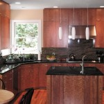 Figured Cherry Kitchen