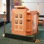 Red Oak Church Pulpit