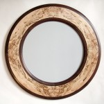 "Spalted Maple and Walnut Mirror 30"" Available for Sale"