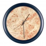 "Wall Clock Spalted Maple Burl face Black Laquer edge 12"" diameter"