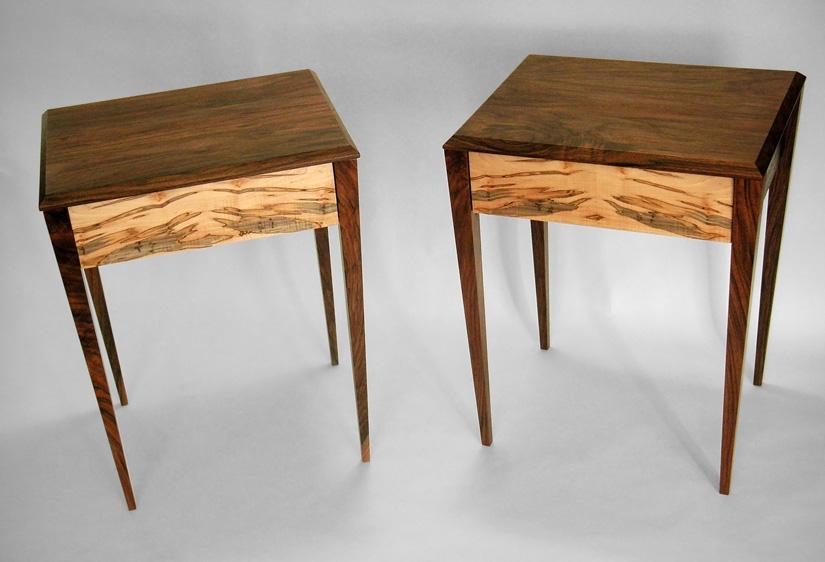 Fine Furniture 187 Cutting Edge Woodworks : walnut ambrosia maple end tables from cuttingedgewoodworks.com size 825 x 562 jpeg 110kB